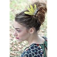 White Dark Purple Hair Fascinator - Feather Accessories - Wedding Bridal  Special Occasion Bridesmaid Clip 0e9a39239b1