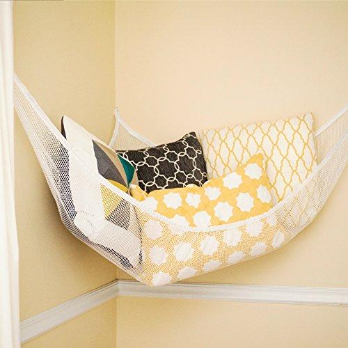 Stuffed animal hammock toy storage hanging net corner for Hanging toy net