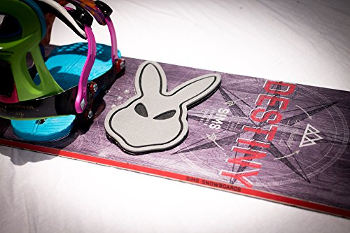 Snowboard Stomp Pad: Bunny Alien Add Traction to your off foot with this Ultra Lightweight, Super Grip, Durable, Anti Slip Pad! …