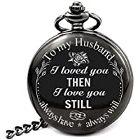 Pocket Watch To Husband Gift From Wife To Husband, Best Anniversary Gifts For Him, Father day gifts