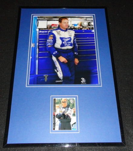 - Rusty Wallace Miller Lite Signed Framed 11x17 Photo Display C