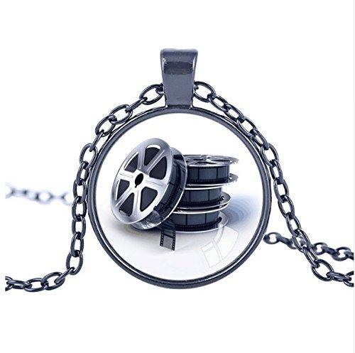 Fashion Film Reel Pendant Film Reel Pendants Charm Movie Pendant Necklace Movies Film Theatre jewelry statement necklace (Reel Charm)