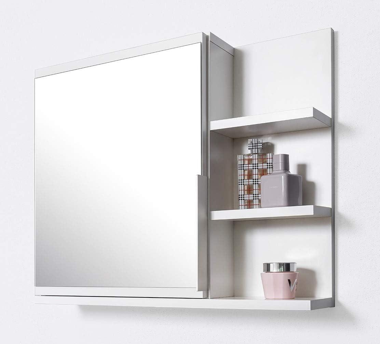 DOMTECH - Armario con espejos para cuarto de baño, color blanco
