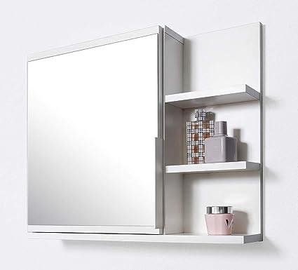 Armadietto A Specchio Per Bagno.Domtech Armadietto Da Bagno Con Specchio Colore Bianco
