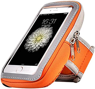 Redmi Note 8T G8 Play//Xiaomi Mi Note 10 3a Motorola One Zoom//Moto G8 Plus Jlyifan Hking Running Sport Gym Sweatproof Armband case for iPhone 11 Orange iPhone 11 Pro Max//Google Pixel 4