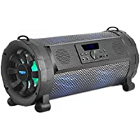 Upgraded Loud Boombox with Bluetooth, Portable Speaker, Outdoor Stereo, Street Blaster Stereo Speaker, 300 Watts, MP3 System, LED Lights & Rechargeable Battery from Pyle (PBMSPG190)