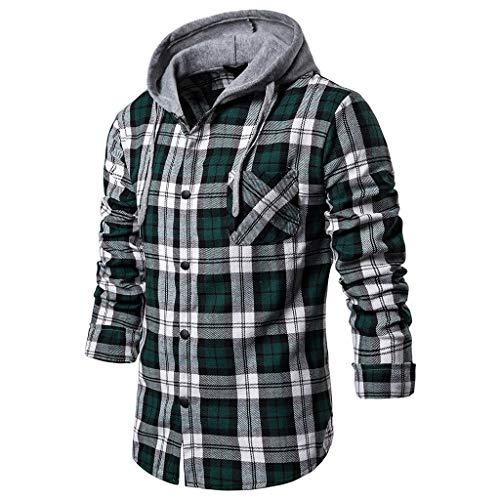Steelers Halloween Memes (Men's Casual Coat Fit Slim Plaid Printed Sweatshirt Long Sleeve Shirt Blouse)