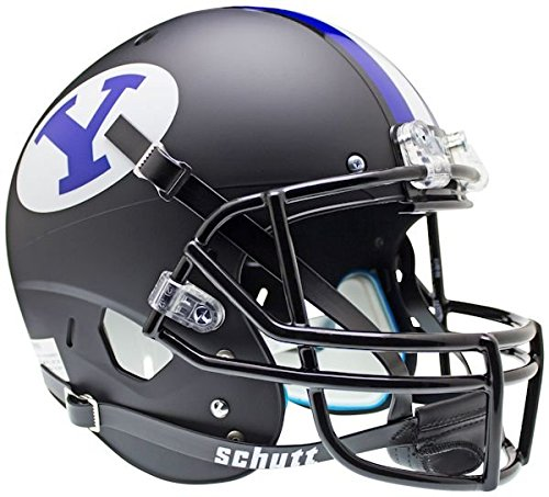 Brigham Young Byu Cougars Football (BRIGHAM YOUNG COUGARS Schutt AiR XP Full-Size REPLICA Football Helmet BYU (MATTE BLACK))