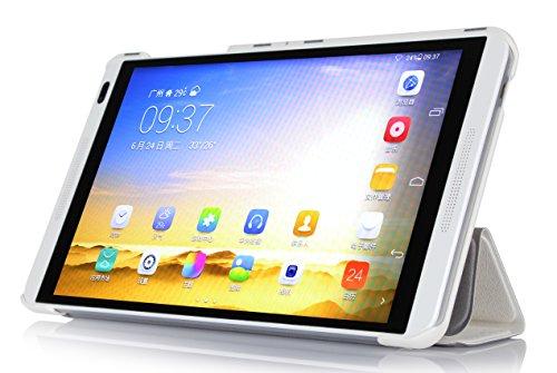 Jusun Huawei MediaPad M1 Ultra-thin Slim Smart 3-folding Stand Cover Case for Huawei MediaPad M1 Tablet (White)