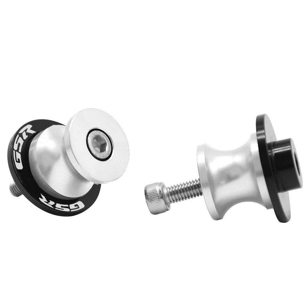 2 Pcs 8MM Spools Motorcycle CNC Swingarm Stand Screws Swing Arm Sliders for SUZUKI GSR 400 600 750 1000 Titanium