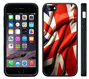 Apple iPhone 6 Black Rubber Silicone Case UK Flag British Waiving Flag