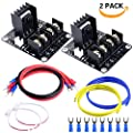Heat Bed Power Module, Quimat 2 Pack MOS Tube Power Expansion Board High Current Load Module for 3D Printer