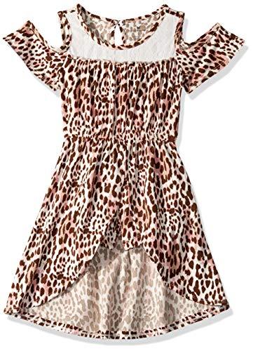 One Step Up Girls' Toddler Romper Maxi Dress, Vanilla Leopard, 2T]()