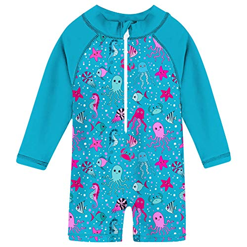 (uideazone Little Boys Girls Kids Lightweight Marine Life Pattern Casual Vacation Holiday Beach Bord Surf Swim Wear Suit 24-36)