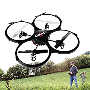 UDI U818A HD+ Drone with Camera and Headless Mode -2.4Ghz RC Camera Drone Quadcopter - with Extra Battery and Power Bank