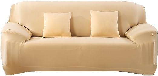 WOMACO Funda elástica de tela para sofá de 1 2 3 4 plazas, antiácaros, antiácaros, para mascotas, perros, gatos: Amazon.es: Hogar