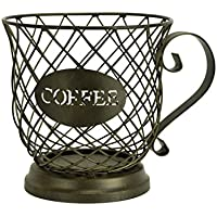 Kup Keeper Coffee & Espresso Pod Holder, Coffee Mug Storage Basket by Boston Warehouse