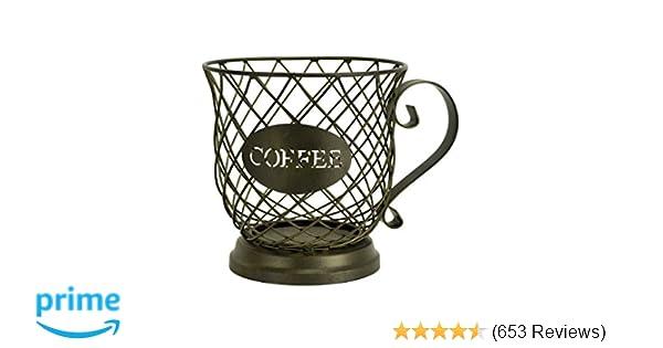 Amazon Com Kup Keeper Coffee Espresso Pod Holder Coffee Mug Storage Basket By Boston Warehouse Kitchen Dining