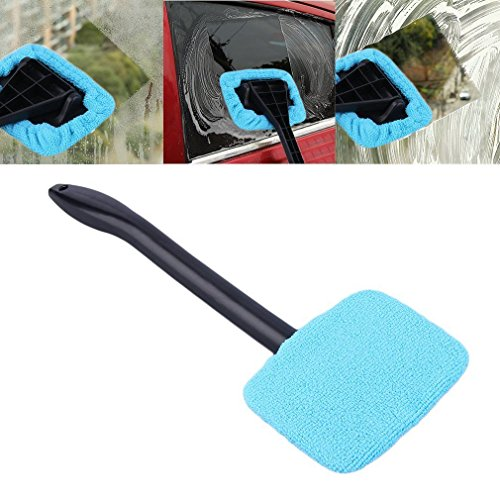 3PCS Windshield Car Glass Cleaner Wiper Handle Wand Microfiber Cloth Auto - Advantage Car Boots
