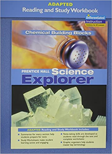 Book PRENTICE HALL SCIENCE EXPLORER CHEMICAL BUILDING BLOCKS ADAPTED READING AND STUDY WORKBOOK