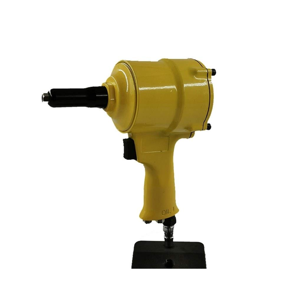 Pneumatic Rivet Gun, Decoration Engineering Pneumatic Nailing Tool Industrial Grade Hand Tool (Color : Yellow) by XIAOL-Pneumatic Tool