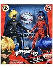 Miraculous Ladybug Mission Accomplished Ladybug & Cat Noir 2-Pack Pound It Fists by Playmates Toys, Multicolor