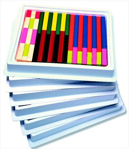 Connecting Cuisenaire Rods - Cuisenaire 076760 Multi-Pack Connecting Rods Introductory Set