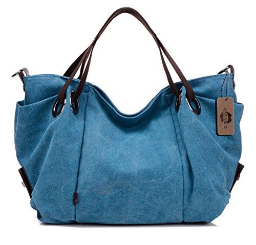 Metallic Gold Woven Top Handle Bag (KISS GOLD(TM) Women's Canvas Hobo Top-handle Bag Crossbody Shoulder Bag, European Style, Large Size 16