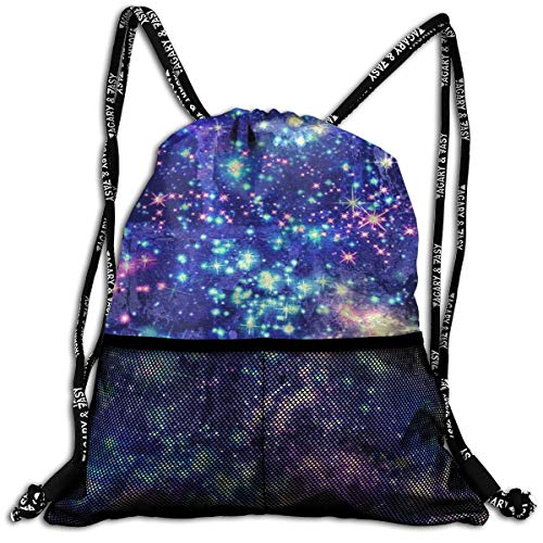Men & Women Premium Polyester Drawstring Bag Colorful