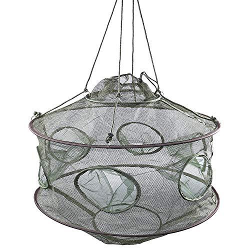 (YONGZHI Crab Trap,Minnow Traps,Shrimp Trap,Fishing Bait Traps,Crayfish Trap,Portable Folded Fish Net)