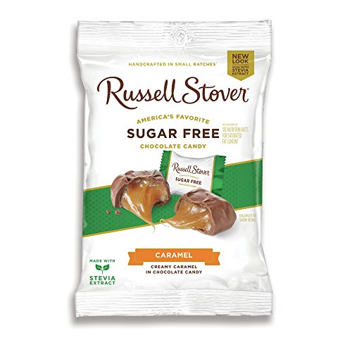 Russell Stover Sugar Free Butter Cream Caramels, 3 oz. (Any Occasion Sugar Free Candy)