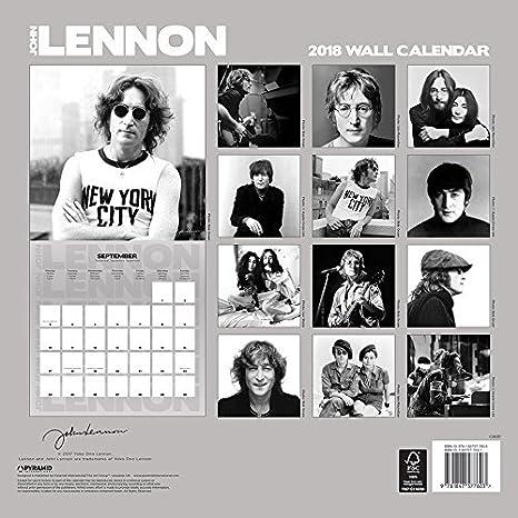 Calendario 2018 John Lennon - The Beatles - Grupo Inglés + ...