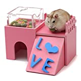 Alfie Pet by Petoga Couture - Joel WPC Hideout for Mouse, Chinchilla, Rat, Gerbil and Dwarf Hamster - Color Pink