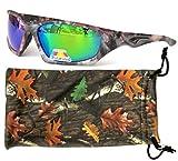 Vertx men's polarized camouflage sunglasses outdoor w/free microfiber camo pouch