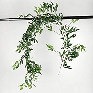 GSD2FF 170cm Wedding Ceiling Winding Road Layout Rattan Window Decoration Artificial Flowers Willow Vine Faux Foliage Wreath 114