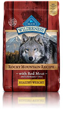 BLUE Wilderness Rocky Mountain Recipe Adult Healthy Weight Grain Free Red Meat Dry Dog Food 22-lb