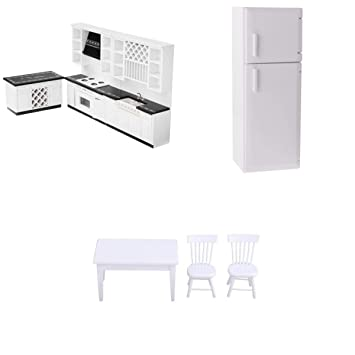 Amazon.es: MagiDeal Kit de Cocina con Nevera Modelo de Mesa y 2pcs ...