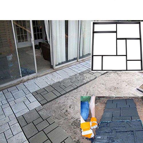 Yosoo DIY Driveway Paving Brick Patio Concrete Slabs Path Garden Walk Maker Mould (Round Concrete Patio Blocks)