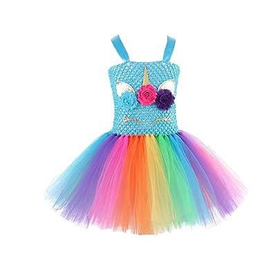 TrifyCore Niñas Unicornio del Vestido del tutú del Unicornio ...
