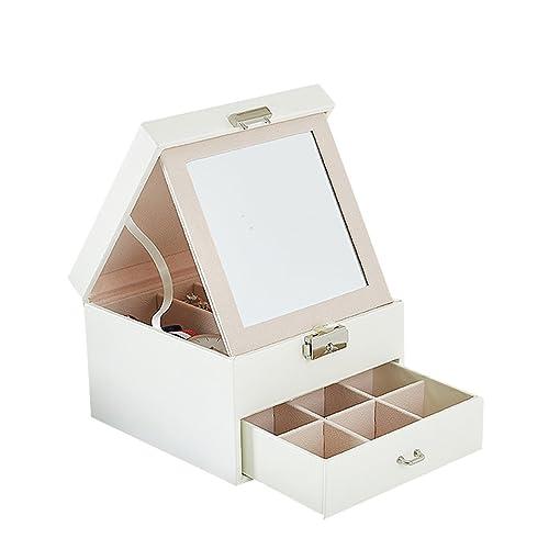 iSuperb Joyero Viaje Decorativas Cajas para Joyas Mujer Pequeña Cofres para Joyas con Espejo Jewelry Organizer: Amazon.es: Joyería