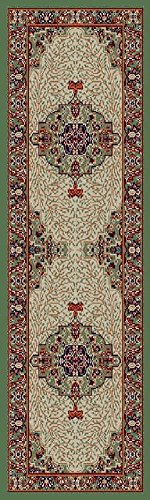 Traditional Area Rugs Green 2x7 Hallway Runner Rug, Runner Rugs for Hallway 2x8