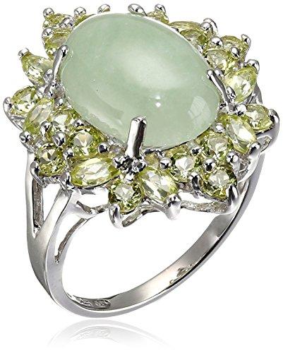 Sterling Silver Green Jade Peridot