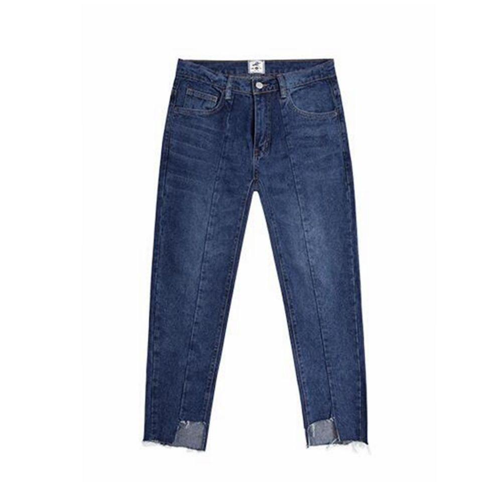 ZHAOXIANGXIANG Puro Cotone dal Giunto di Lavaggio Raschiare Jeans