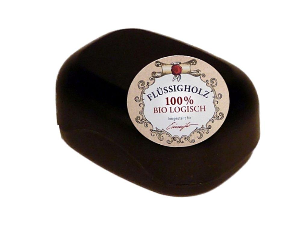 Einseifer Große Seifendose aus Flüssigholz SCHWARZ Seifenbehälter 0683121705605