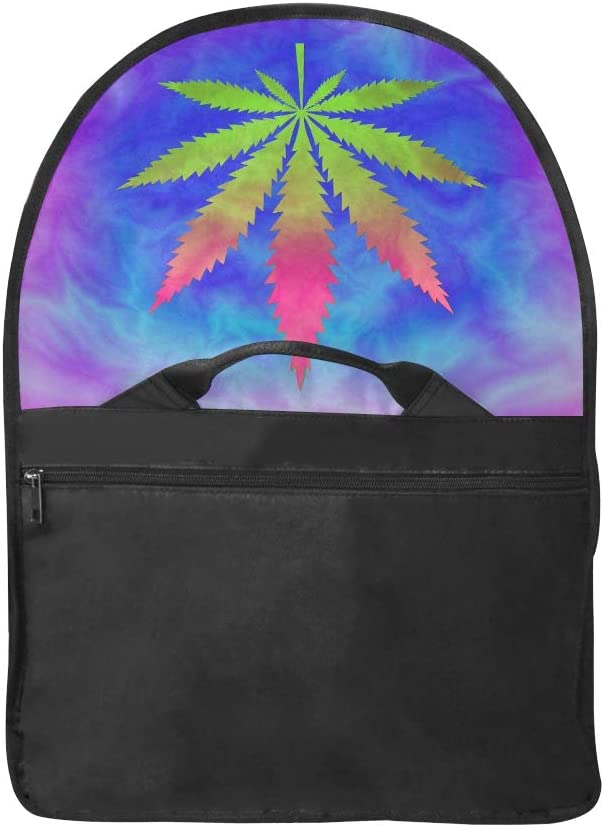 Briefcase Laptop Bag for Women Tie Dyed Pot Leaf Abstract Psychedelic Multi-Functional Woman Designer Bag Fit for 15 Inch Computer Notebook MacBook