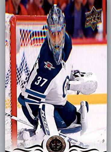 - 2018-19 Upper Deck Hockey Card #193 Connor Hellebuyck Winnipeg Jets Official UD Trading Card