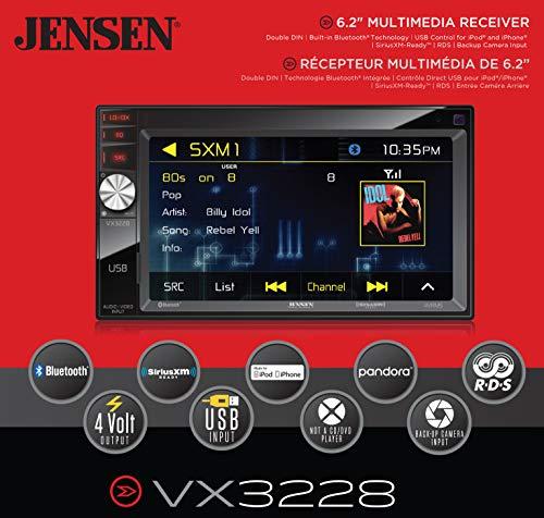 Jensen VX7020 6.2 inch LCD Multimedia Touch Screen Double Din