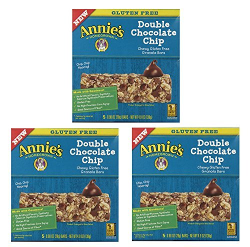 - Annies Gluten Free Chewy Granola Bars, Double Chocolate Chip, 0.98 Oz Bars, 5 Count (Pack of 3)