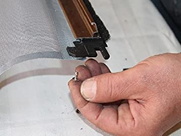 larghezza x altezza Rete Grigia a scorrimento Verticale//Orizzontale made in Italy AWITALIA con TASCA PER BARRA MANIGLIA BOTTONI PRODOTTA SU MISURA INVIA LE MSURE PR SPECIFICARE LO SCORRIMENTO dimensioni 130x250 Rete per zanzariera prodotta su misura