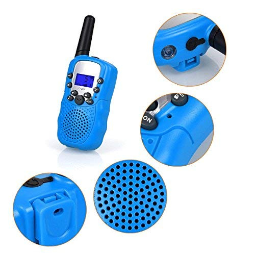 ISCOOL Walkie Talkies for Kids Long Range Two Way Radio Kids Walkie Talkies 22 Channel Outdoor Toys for Girls and Boys(2 PCS ,Blue by iscool (Image #4)
